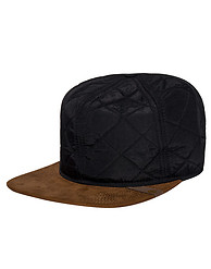 TIMBERLAND QUILTED NYLON FLAT BRIM STRAPBACK CAP