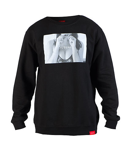 VISUAL MENS TRILL CREW SWEATSHIRT Black