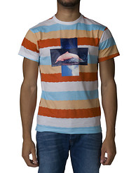 PINK DOLPHIN Wave Stripe Tee