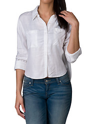 VANILLA STAR 2 POCKET ROLL SLV BOYFRIEND SHIRT