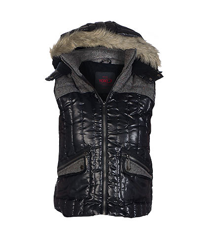 ESSENTIALS WOMENS NYLON TWEED VEST Black
