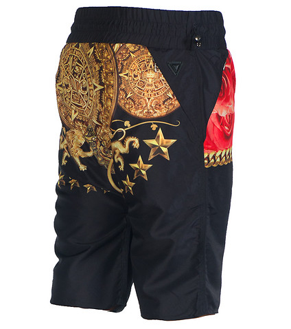VIE RICHE - Shorts - REVERSIBLE GOLD ROSE SHORTS