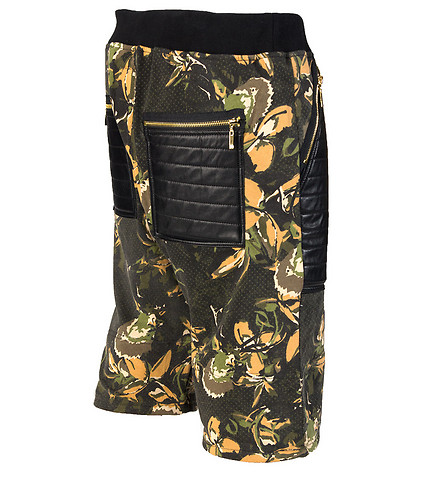 WINCHESTER - Shorts - FLORAL PU SHORTS