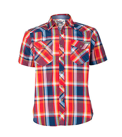DECIBEL MENS PLAID BUTTON DOWN SHIRT Multi-Color