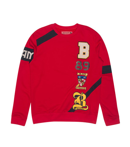 Black Pyramid Arm Band Ls Crew Neck (Red) - Y5160184 ...